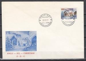 Finland, Scott cat. 603. Christmas issue on a First day cover.