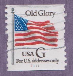 US #2889 Old Glory Used PNC Single plate #1111