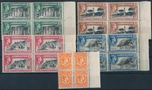 Gibraltar stamp margin blocks of 4 1938 MNH WS221932