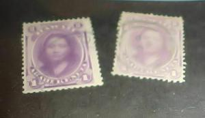 HAWAII STAMPS #30,30A cat.$28.00