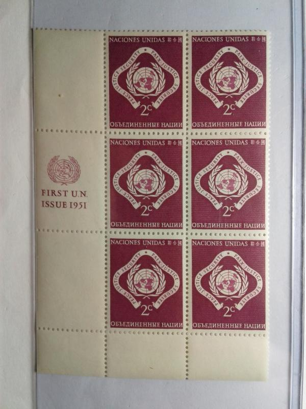 UN CLOSEOUT SALE SCOTT # 3 PLATE BLOCK  OF 6 MNH FIRST ISSUE 1951 GEM