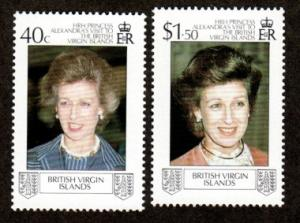 British Virgin Islands 618-619 Mint NH Royal Visit!