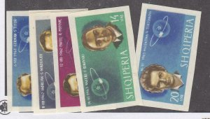ALBANIA # 680-685 VF-MNH SPACED THEMED IMPERFS CAT VALUE $40