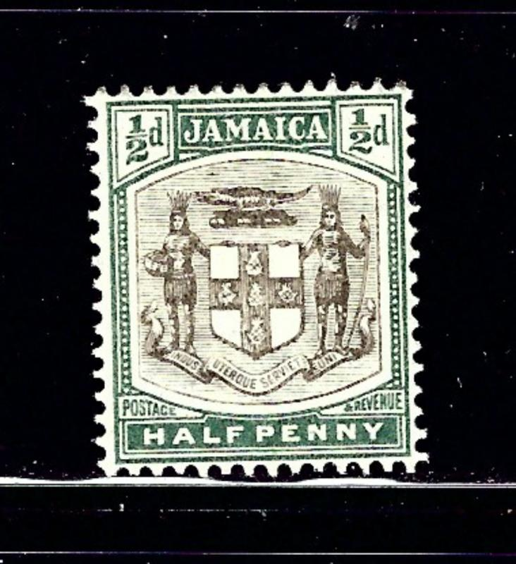 Jamaica 37 MH 1905 issue number penciled on gum