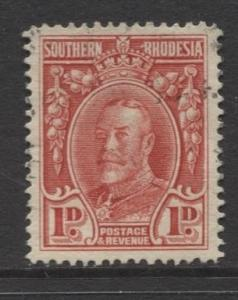 Southern Rhodesia- Scott 17 - KGV - Definitives  -1931 - FU - Single 1d Stamp