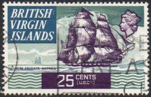 British Virgin Islands 1970 25c HMS Astrea, 1808 used