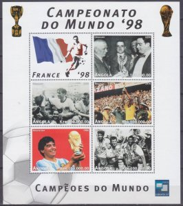 1997 Angola 1155-1159KL 1998 FIFA World Cup in France 7,00 €