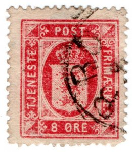 (I.B) Denmark Postal : Official Post 8 Ore