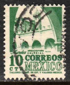 MEXICO 944, 10cents 1950 Definitive 3rd Printing wmk 350. USED. F-VF. (1427)