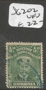 Rhodesia Admirals SG 202 VFU (7cmr)