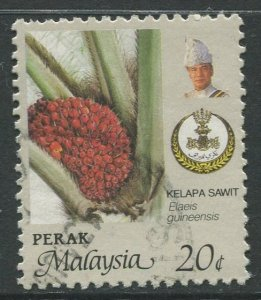 STAMP STATION PERTH Perak #165 Sultan Idris Shah Flowers Used 1986