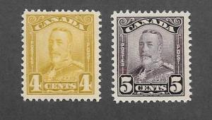 Canada  Scott #152-153   Mint H Scott CV $43.50