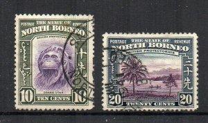 North Borneo 1939 10c and 20c FU CDS
