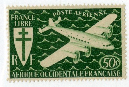 FRENCH WEST AFRICA C2 MH SCV $3.50 BIN $1.50 AIRPLANE