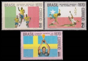 1970 Brazil 1262-1264 1970 FIFA World Cup in Mexico 26,00 €