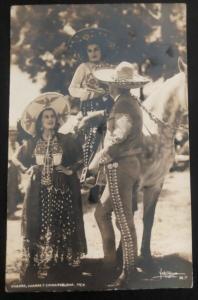 1942 Mexico City DF Mexico RPPC Postcard Cover To San Diego Ca USA Charro