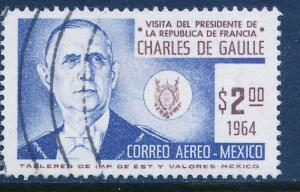 MEXICO C281 Visit of Pres Ch de Gaulle of France Used (1160)