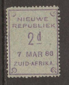 New Republic SG 27 MLH. 1886 2d violet on gray 7 MAR 86