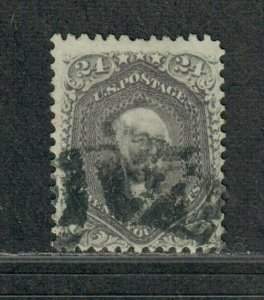 US Sc#78b Used/F, Pinholes, Cv. $450