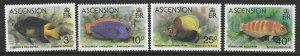 Ascension  262 - 263 (SG 270/3) Fish - MNH - VF - CV$3.15