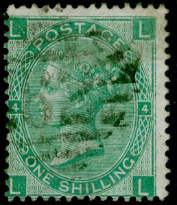 SG117, 1s green plate 4, USED. Cat £65. IRELAND. LL