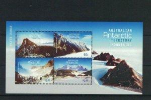 AAT97) Australian Antarctic Territory 2013 Mountains Minisheet MUH