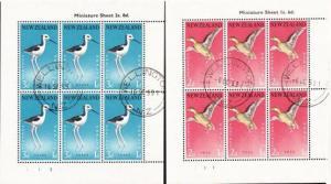 NEW ZEALAND 1959 Health miniature sheets fine used ACS cat NZ$110...........3807