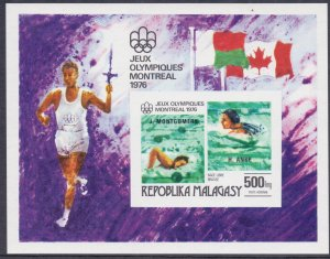 Madagascar. 1976. bl16 822-26 5LB. Sports OI. MNH.