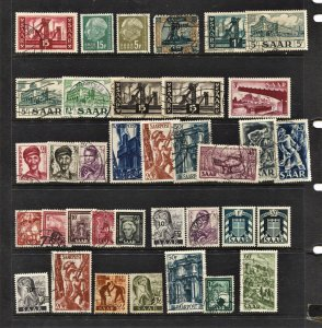 STAMP STATION PERTH Saar #35 Used  - Unchecked