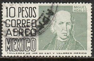 MEXICO C479, $10.00 1950 Def 9th Issue Unwmk Glazed paper USED. F-VF. (1461)