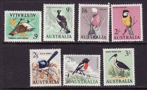 Australia-Sc.#367-73-unused hinged bird definitives-1963-5-