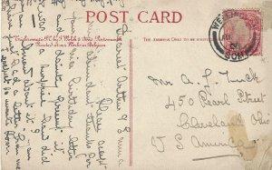 Wellington, Great Britain Postal Card 1908  Parish Church
