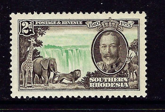 Southern Rhodesia 34 MNH 1935 from Silver Jubilee set