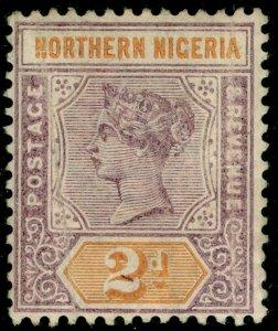 NORTHERN NIGERIA SG3, 2d dull mauve & yellow, M MINT. Cat £16.