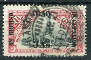 IRAQ; 1918 BRITISH OCCUPATION issue fine used 3a. value + good POSTMARK