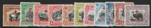 NORTH BORNEO SG235/45 (ex SG242a) 1918 RED CROSS SET TO 24c USED