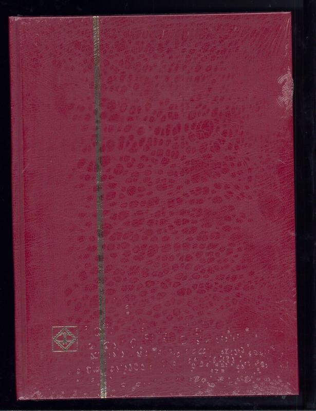 New Lighthouse Hardcover 32 Page Basic Stamp Collector Album Stockbook - Red