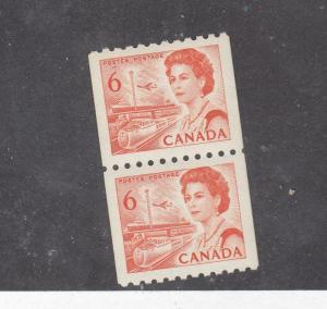 CANADA # 468A x 2 605 IMPERF BETWEEN FAINT CU/ EDGE1194c,1165 MISPERF VARIETIES