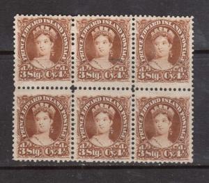 Prince Edward Island #10ii VF Mint Wide Gutter Block Of Six