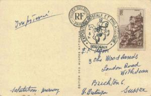 France 15F Rocamadour 1951 Bordeaux Exposition Postale et Philatelique Illust...