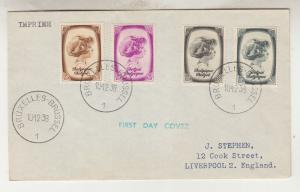 BELGIUM, 1938 Anti TB, 10c., 30c., 40c. & 75c., First Day cover.