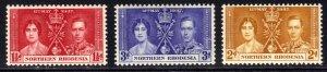 Northern Rhodesia 1937 KGV1 Set Coronation Umm SG 22 – 24 ( J212 )