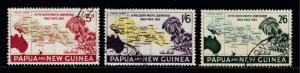 PAPUA NEW GUINEA - SCOTT 167-169 - 1962 SO. PACIFIC CONF. SET - USED - SCV $7.25