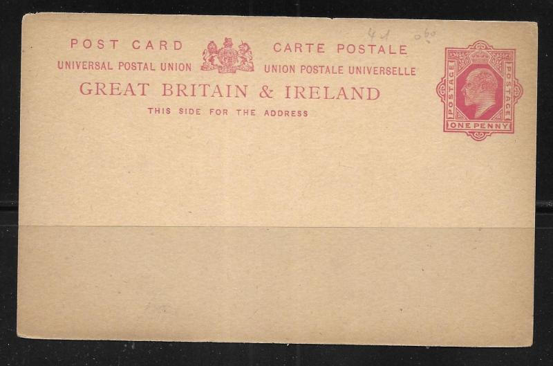 Great Britain Postal Stationery Postcard H&G 30 Mint