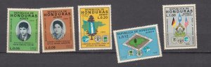 J27764 1970 honduras set mnh #c480-4 designs