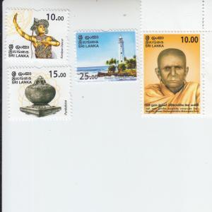 2017 Sri Lanka Lighthouse, Dancer, Etc. (4) (Scott 2108-11) MNH