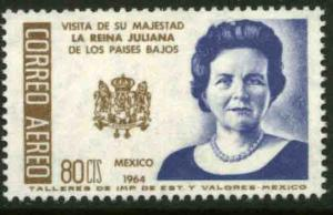 MEXICO C283 Visit of Queen Juliana of the Netherlands. MINT, NH. VF.