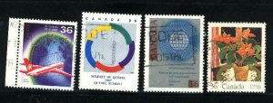Can #1145-1148  used VF 1987 PD