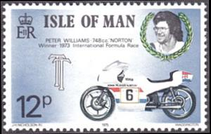 Isle of Man # 69 mnh ~ 12p Motorcycle and Race Driver