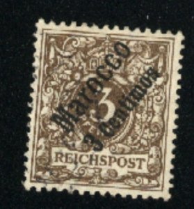 Germany Offices in Morocco #1   Mint VF 1899  PD